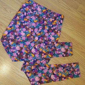 Lularoe floral one size leggings